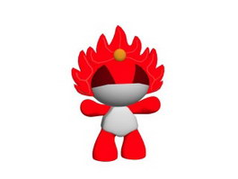2008 Olympic Mascot Toys 3d model