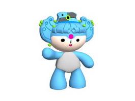 Stuffed soft toy Olympic mascot 3d model