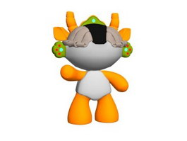 Cartoon Toys Beijing Olympic Mascot 3d model