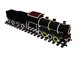 Toy trains for kids 3d model