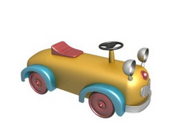 Kids electronic toy car 3d model