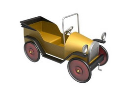 Old American cars toy car 3d model