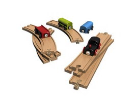 Kids slot car toy 3d model