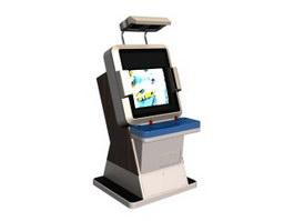 Car racing video game machine 3d model