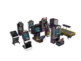 Video Game City Game Machines 3d model