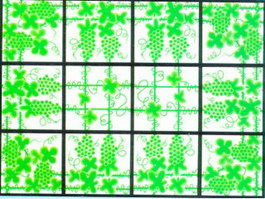 Colored decorative glass texture