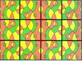 Coloured sheet glass texture