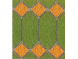 Pattern shaped glass texture