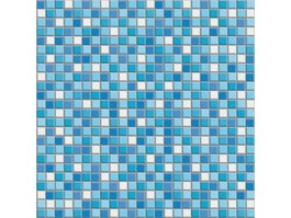 Blue and white mixed mosaic pattern texture