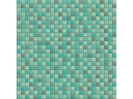 Mixed green floor mosaic texture