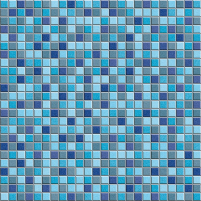 Mixed Blue Swimming Pool Mosaic Texture