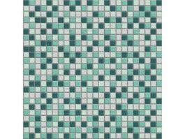 Mixed stone mosaic tile texture