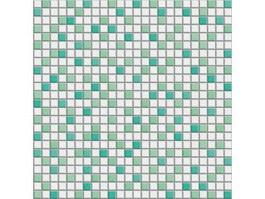 White Green Mixed mosaic tile texture