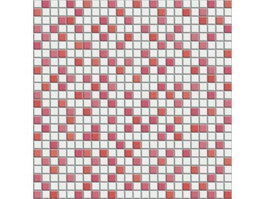 Red and White Mixed Mosaic Pattern texture