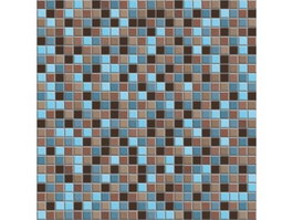 Blue and brown stone mosaic tile pattern texture