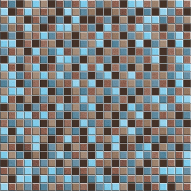 Blue and brown stone mosaic tile pattern texture - Image 5907 on CadNav