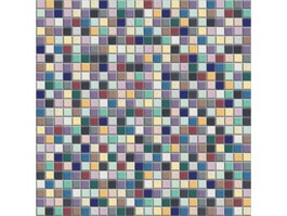 Colorful mixed mosaic tiles pattern texture