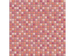 Mixed Red Mosaic Bump Pattern Texture