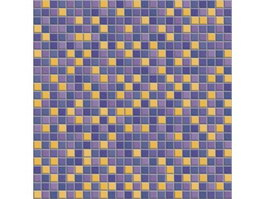 Blue Yellow Mixed Pattern Mosaic texture