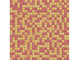 Red and yellow mixed mosaic tiles texture