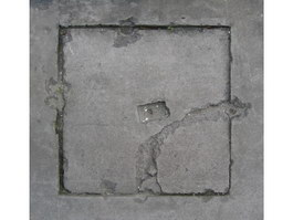 Crack cement manhole cover texture