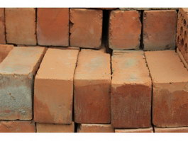 Stacking clay brick texture