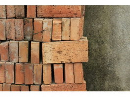 Faded pile up fire brick texture