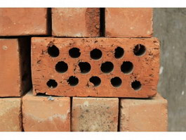 Perforated cellular brick texture