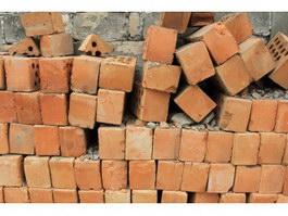 Pile of hollow bricks texture