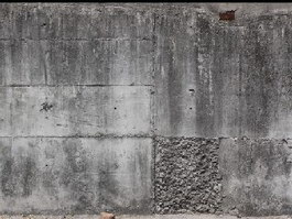 Concrete casting for wall texture