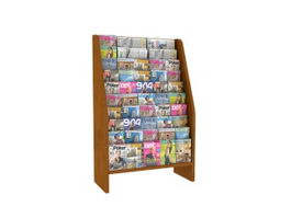 Magazine Display Rack 3d model