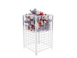 Supermarket Metal Storage Cages 3d model