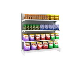 Supermarket Shelf & Washing Product 3d model