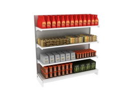 Supermarket Food Storage Shelf 3d model