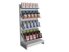 Bookstore floor standing display rack 3d model