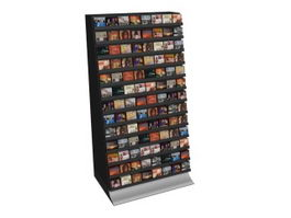 Supermarket CD Display Rack 3d model