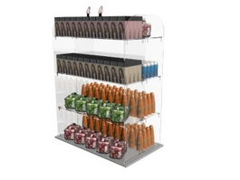 Hair shampoo display rack 3d model