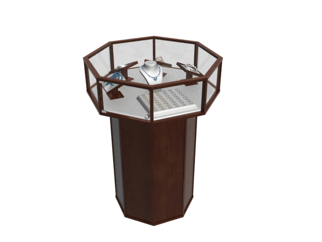 Jewelry Display Cabinet 3d Model 3dmax Files Free Download