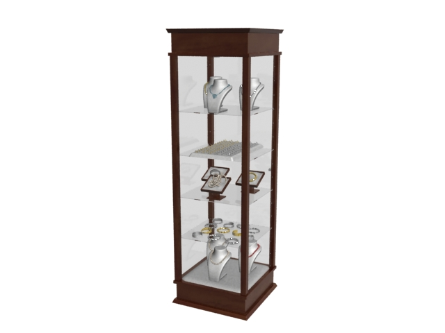 jewelry display case 3d model 3dmax files free download