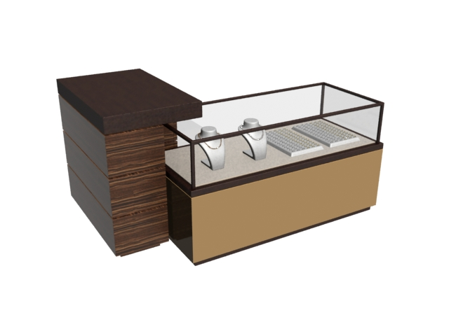 jewelry display cabi  and reception desk 3d model 3dmax