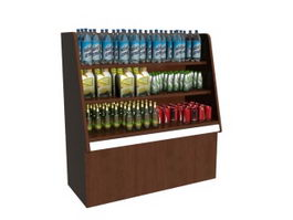 Beverage drink display rack 3d model