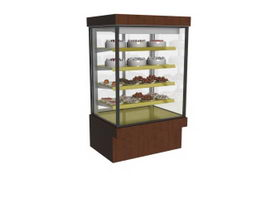 Cake cabinet counter cake display 3d model