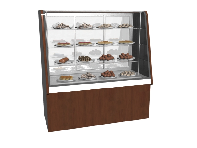Bakery Pastry Display Cabinet 3d model 3DMax files free download ...