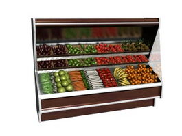 Vegetable display refrigerator 3d model