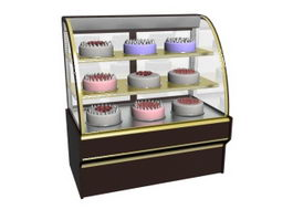 Counter Top Cake Showcase 3d model