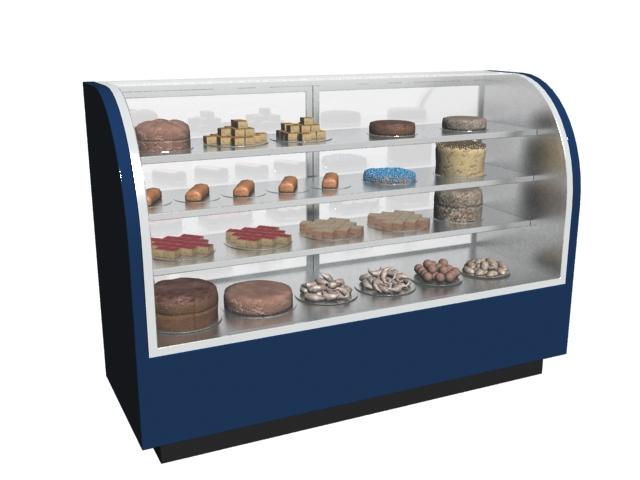 Refrigerated Cake Showcase 3d Model 3dmax Files Free Download Modeling 7633 On Cadnav