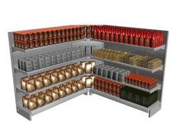 Display Supermarket Rack 3d model