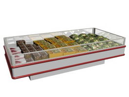 Commercial Display Freezer 3d model