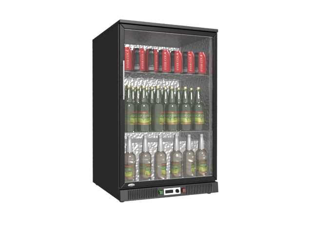 Mini Showcase Upright Freezer 3d Model 3dmax Files Free