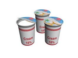 Whipped Cream 3d model